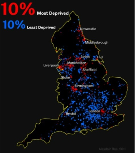 Most deprived in England