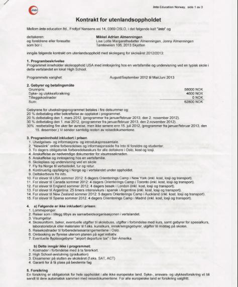 kontrakt s. 1